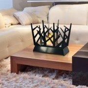 Dafne Black, cheminée bioéthanol de table design.