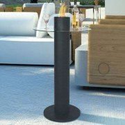 MELIA a bar table with integrated bio ethanol fireplace, beautiful!