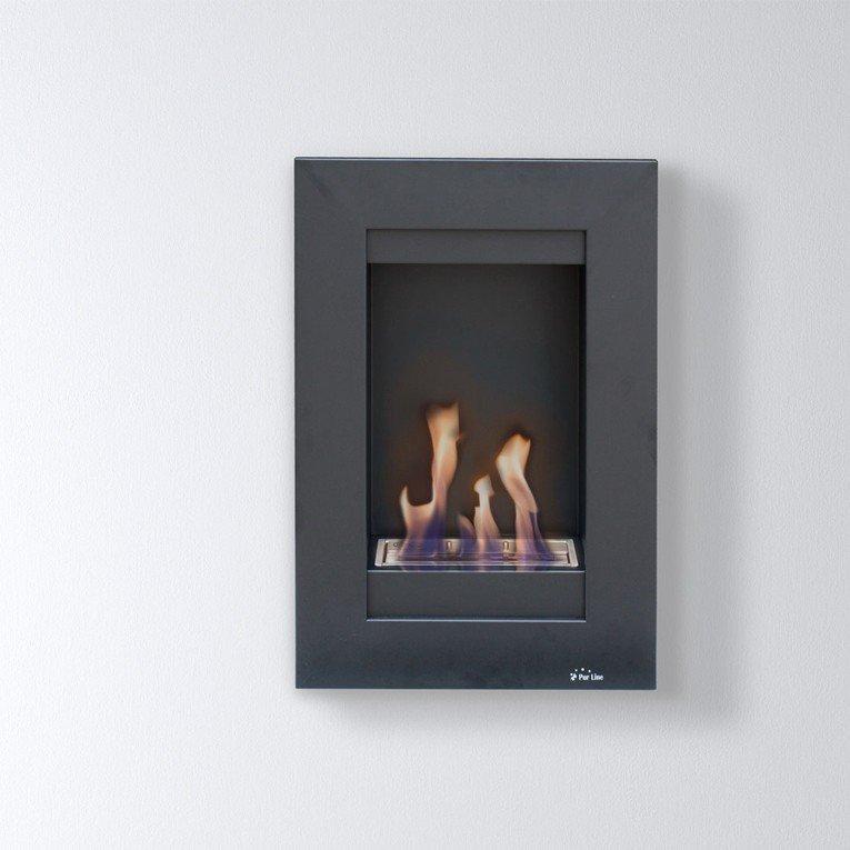 chemin e bio ethanol a fixer au mur. Black Bedroom Furniture Sets. Home Design Ideas