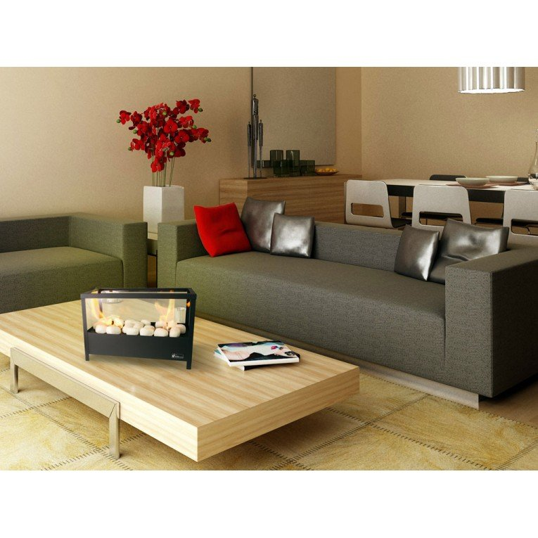 chemin e bio thanol de table double bruleur. Black Bedroom Furniture Sets. Home Design Ideas