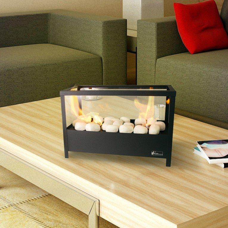 chemin e bio thanol de table double bruleur. Black Bedroom Furniture Sets. Home Design Ideas