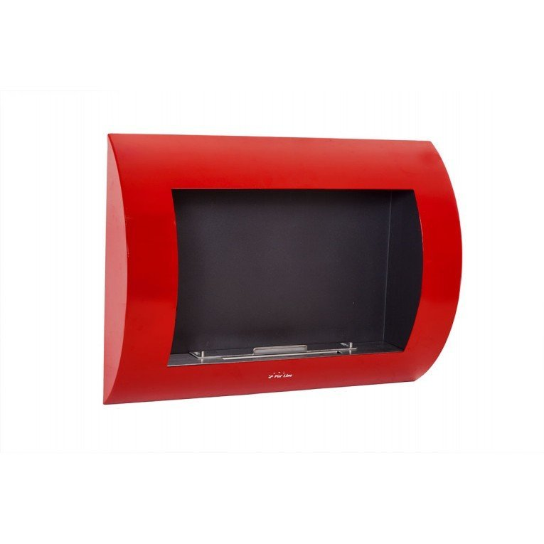 Purline ® Inox Clasic Red Edition, wall bioethanol fireplace,metallic ...