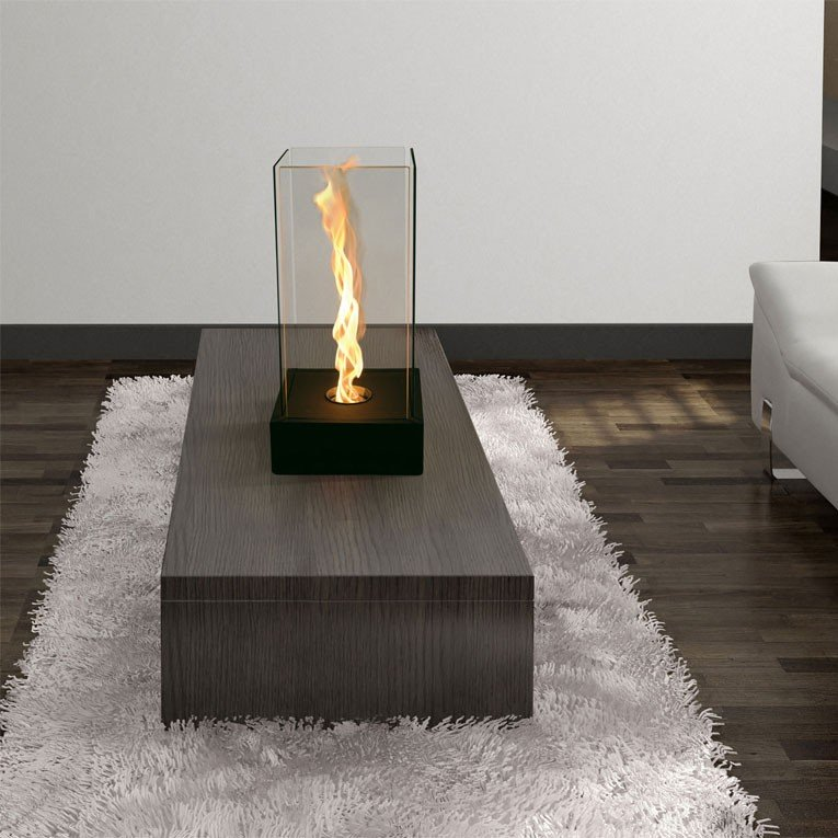 chemin e bio ethanol de table design. Black Bedroom Furniture Sets. Home Design Ideas
