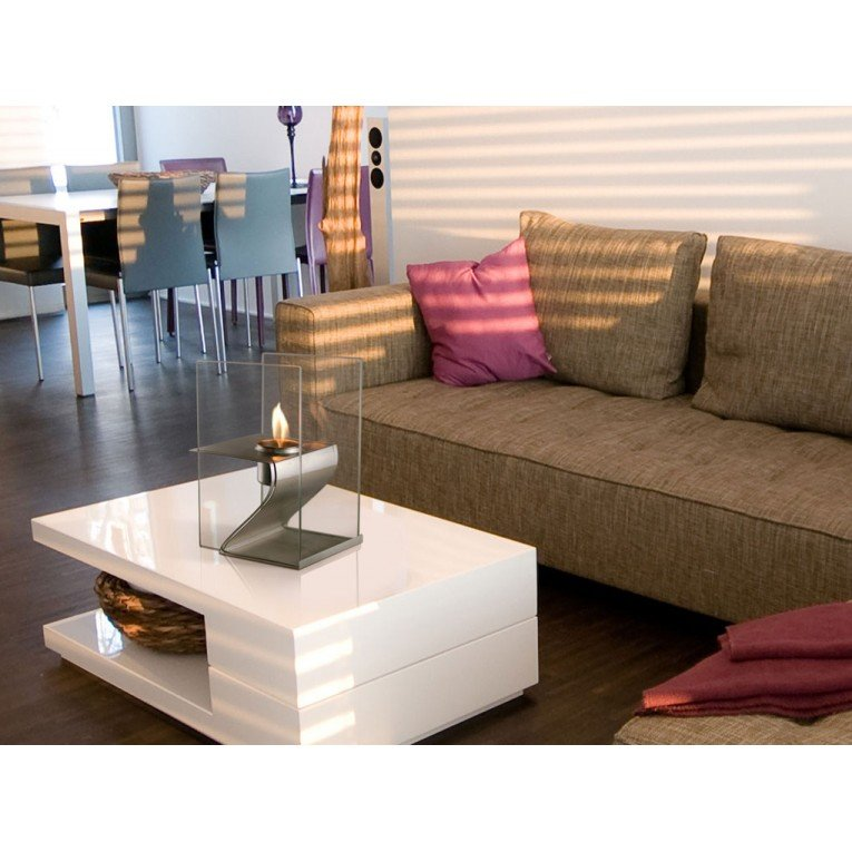 chemin e bio ethanol inox hera de purline chemin e de. Black Bedroom Furniture Sets. Home Design Ideas